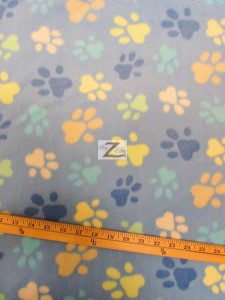 Animal Paw Anti-pill Polar Fleece Fabric By Baum Textile Mills