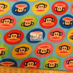 Monkey Anti-pill Polar Fleece Fabric By David Textiles Badge Turquoise