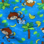 Monkey Anti-pill Polar Fleece Fabric By David Textiles Bananas