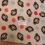 Monkey Anti-pill Polar Fleece Fabric By David Textiles Dots