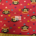 Monkey Anti-pill Polar Fleece Fabric By David Textiles Heart