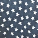 American USA Anti-pill Polar Fleece Fabric Blue Small White Stars