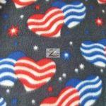 American USA Anti-pill Polar Fleece Fabric American Hearts