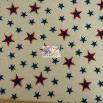 American USA Anti-pill Polar Fleece Fabric Stamped Stars