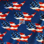American USA Anti-pill Polar Fleece Fabric USA Flag America