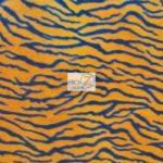 Zebra Anti-pill Polar Fleece Fabric Small Orange