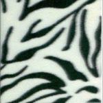 Zebra Anti-pill Polar Fleece Fabric White Black