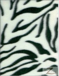 Zebra Anti-pill Polar Fleece Fabric White Black