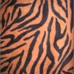 Zebra Anti-pill Polar Fleece Fabric Brown Black Stripes
