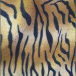 Zebra Anti-pill Polar Fleece Fabric Fading Brown