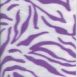 Zebra Anti-pill Polar Fleece Fabric White Purple
