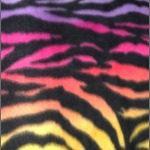 Zebra Anti-pill Polar Fleece Fabric Rainbow