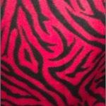 Zebra Anti-pill Polar Fleece Fabric Red