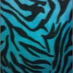 Zebra Anti-pill Polar Fleece Fabric Turquoise