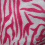 Zebra Anti-pill Polar Fleece Fabric White Pink