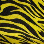 Zebra Anti-pill Polar Fleece Fabric Yellow Black