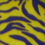 Zebra Anti-pill Polar Fleece Fabric Yellow Purple