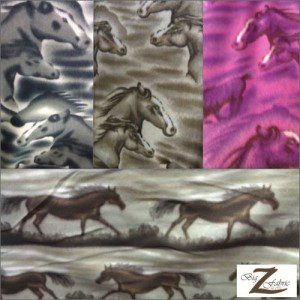 Horse Anti-pill Polar Fleece Fabric