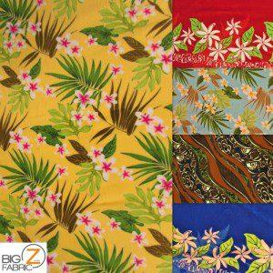 Floral Anti-pill Polar Fleece Fabric By Trendtex Fabrics