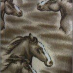 Horse Anti-pill Polar Fleece Fabric Big Brown