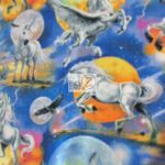Horse Anti-pill Polar Fleece Fabric Mystical