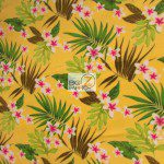 Trendtex Fabrics fleece fabric Plumeria Flower Yellow