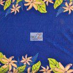 Trendtex Fabrics fleece fabric Tiare Flower Blue