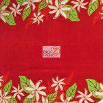 Trendtex Fabrics Fleece Fabric Tiare Flower Red