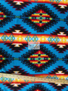 Indian Aztec Baum Textile Mills Fleece Fabric