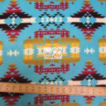 Baum Textile Mills Fleece Fabric indian canyon turquoise