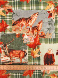 Baum Textile Mills Fleece Printed Fabric American Wildlife