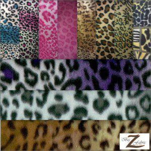 Leopard Anti Pill Fleece Fabric