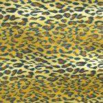 Leopard Anti Pill Fleece Fabric Gold Snow