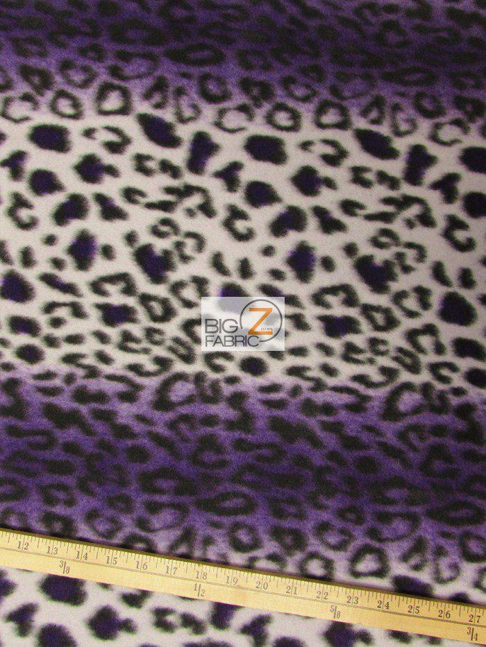 Leopard anti pill polar fleece fabric anti pill fleece for Fleece fabric