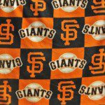 San Francisco Giants Squares By Fabric Traditions MLB Fleece Fabric