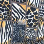 Cheetah Anti-pill Polar Fleece Fabric Wild Collage