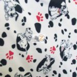 Dog Anti-pill Fleece Printed Fabric 101 Dalmatians