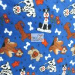 Dog Anti-pill Fleece Printed Fabric Neighborhood