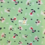 Dog Anti-pill Fleece Printed Fabric Patched Happy Dogs Green