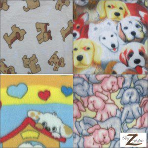 Dog Polar Fleece Fabric