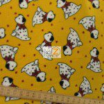 Fleece Printed Fabric Animal Dog Dalmatians