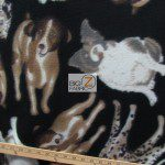 Fleece Printed Fabric Animal Dog Dog Pack
