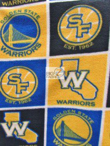 Golden State Warriors Fleece Fabric