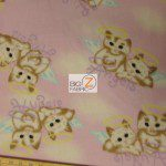 Cat Anti Pill Fleece Fabric Angels
