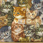 Cat Anti Pill Fleece Fabric Kittens