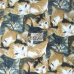 Cat Anti-pill Polar Fleece Fabric Wild Wings