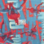 Marvel Comics Anti-pill Fleece Fabric Amazing Spidey
