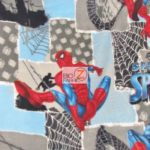 Marvel Comics Anti-pill Fleece Fabric Spider-man Patch