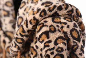 Leopard Print Fleece Fabric