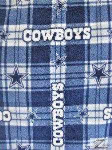 NFL Dallas Cowboys Anti-pill Fleece Fabric Plaid